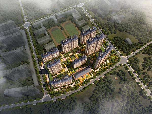 0805--建业阳滨河珑府--鸟瞰(日景)