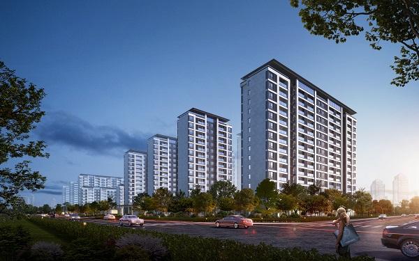 建业南阳新筑项目--南--沿街透视 副本(1)
