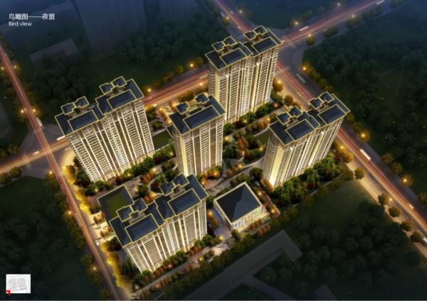 中州府項目鳥瞰夜景